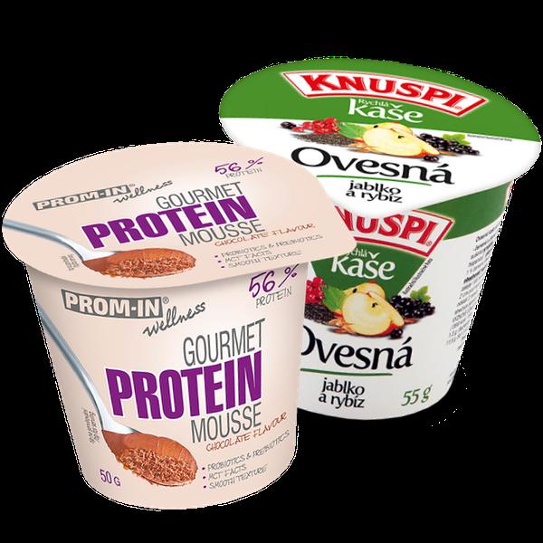 balíček Protein Mousse + Knuspi rýchla kaša v kelímku